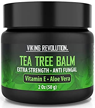 Tea Tree Oil Antifungal Cream- Super Balm Athletes Foot Cream- Perfect Treatment for Eczema Jock Itch Ringworm and Nail Fungus Infections- Also Soothes Itchy Scaly and Cracked Skin