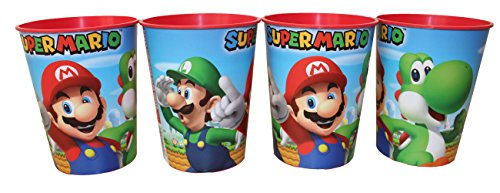 Unbekannt Nintendo Super Mario Trinkbecher Saftbecher Becher 4er Set
