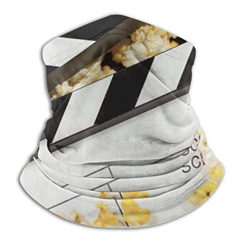 Ahdyr Película Palomitas de maíz Bufanda para la Cara Bandanas Polaina para el Cuello pasamontañas Diadema Bufanda Tubo para la Cabeza Calentador de Cuello para Deportes de Polvo