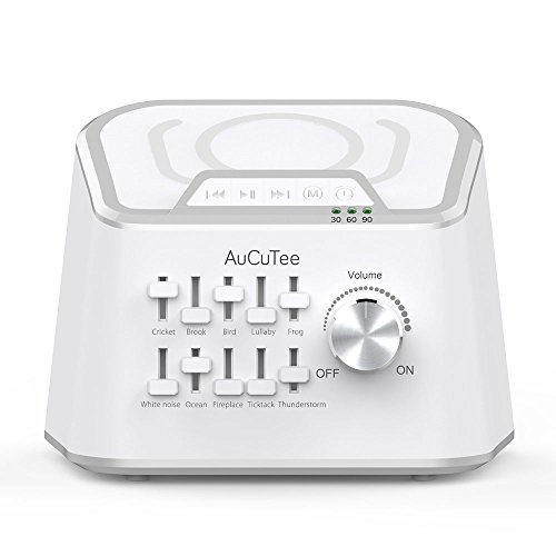 AuCuTee White Noise Sleep Machine with 10 Natural Sounds Mixing or...