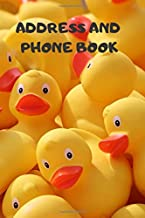 Address and Phone Book: (with discreet password journal section) 'Rubber Ducky' Design Logbook,Organized In Alphabetical Order, Discreet internet page ... month by month birthday/anniversary section.