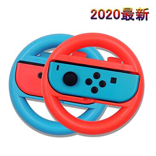 Vikisda Nintendo switch ハンドル 【2020最新版】 マリオカート8 デラックス ハンドル ニンテンドースイッチ レースゲーム Nintendo スイッチ ジョイコン (Joy-Con) コントローラー 専用 2個 セット