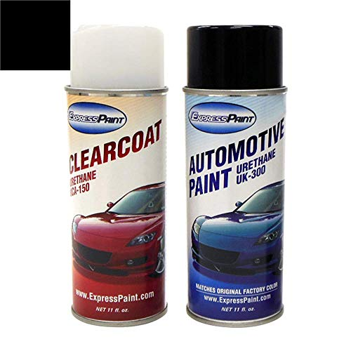 ExpressPaint Aerosol - Automotive Touch-up Paint for Toyota Corolla - Black Sand Pearl 209 - Color + Clearcoat Package