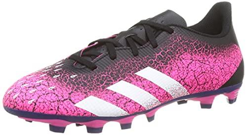 adidas Predator Freak .4 FxG, Scarpe da Calcio Uomo, Shock Pink/Ftwr White/Core Black, 44 2/3 EU