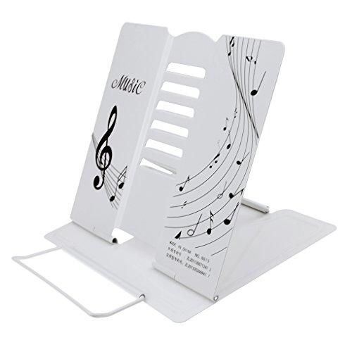 Rutschfeste Leseständer Buchständer Bookrest aus Metall faltbar Buchstütze Kochbuchhalter 6 Neigewinkeln verstellbar