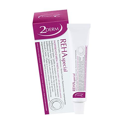REHA Psoriasis und Neurodermitis Creme - Patentierte Heilende Haut Behandlung für alle Hauttypen - Wirksame Salbe zur Hautpflege bei Schuppenflechte, Ekzem, Ausschlag, Akne - Auch für Kinder geeignet