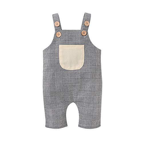 Verve Jelly Toddler Baby Girls Girls, mono a cuadros con pantalones y bolsillos Tartán 0-3 meses