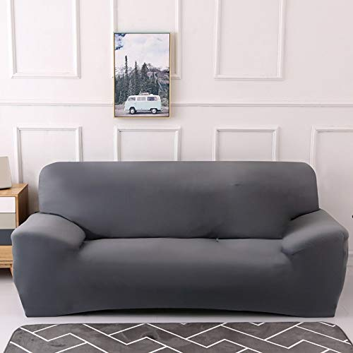 Funda de sofá de Color sólido para Sala de Estar Blanca como la Nieve Funda de sofá elástica a Prueba de Polvo Funda de sofá Toalla elástica para sofá A11 1 Plaza