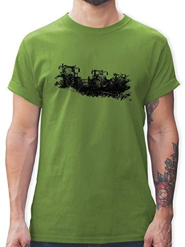 Landwirt - Traktoren Wiese - S - Hellgrün - Kinder Shirt Traktor - L190 - Tshirt Herren und Männer T-Shirts