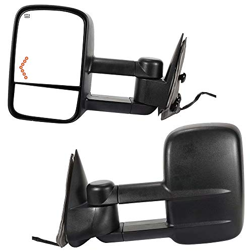 Best Deals! YY HEAITH 2 pcs Power Heated Towing Mirrors w/Turn Signal Light For 03-06 Silverado Sier...