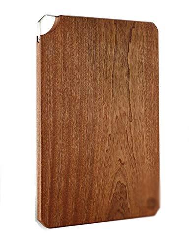 HIZLJJ Gran Tabla de Cortar de bambú de Gran tamaño Antibacterial Profesional Carnicero Bloque Antideslizante Pies de Goma Tabla de Cortar de Madera (Size : L)