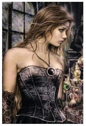 5d Pintura de Diamantes DIY Victoria Frances Vampiros Bordado de Diamantes Cuadrado Completo Mosaico de Diamantes Punto de Cruz decoración del hogar (cuadrado30x40cm)