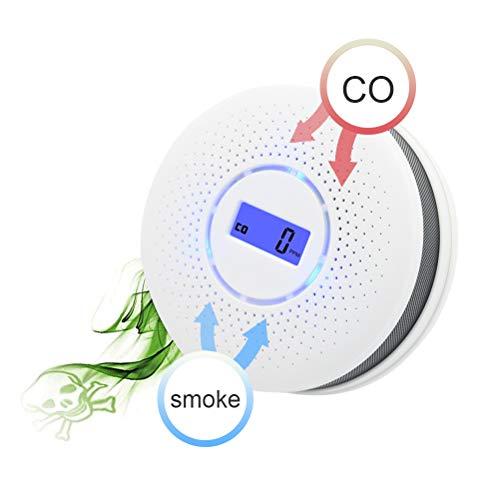 Schimer Kombinierte Rauch- & CO-Melder, Funkrauchmelder, Kombination Rauch, CO Kohlenmonoxidmelder mit Display, Co Melder/Kohlenmonoxid-Warnmelder, Kohlenmonoxid Warnmelder