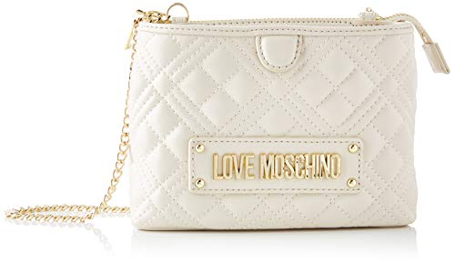 Love Moschino JC4209PP0BKA0, Borsa A Spalla Donna, Bianco Sporco, Normale