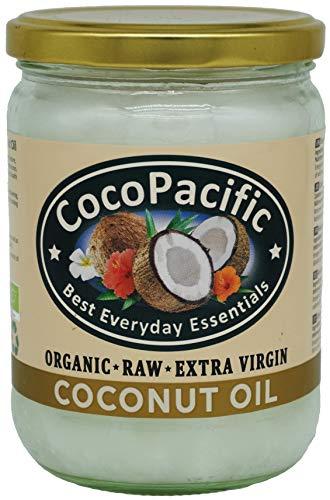 CocoPacific - Huile de noix de coco extra vierge non transformée bio, 500ml