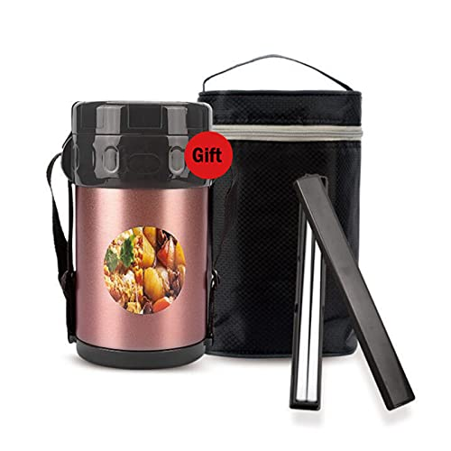 Bento Box Lunch Box 304 Stainless Steel Insulation Lunch Box Large Capacity Multi-Layer with Insulation Bag and Chopsticks Student Gifts for Office Workers coffee-2oooml