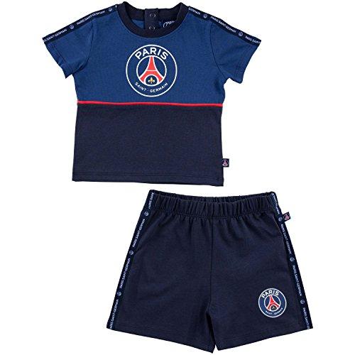 Paris Saint-Germain set van T-shirt en shorts voor baby's, PSG, officiële collectie