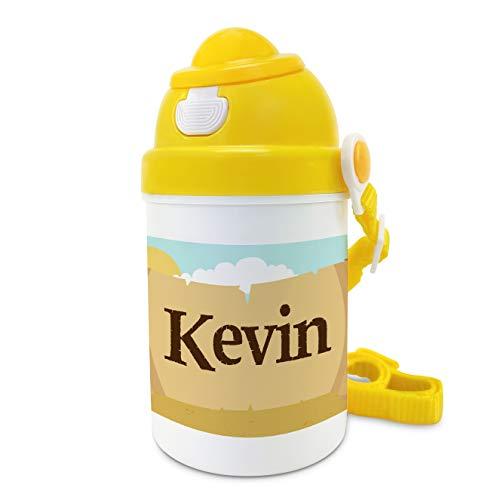 Botella niños Personalizada con Nombre. Regalos Infantiles Personalizados. Tapón Botella de plástico Personalizada. Plástico Libre de BPA. Pirata