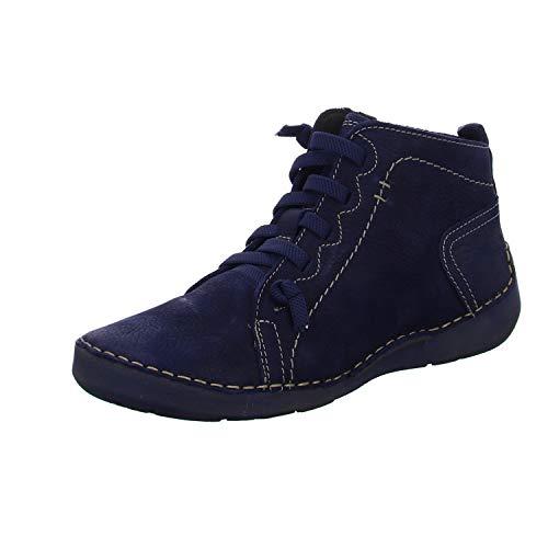 Josef Seibel Damen Stiefeletten Fergey 86, Frauen Schnürstiefelette, Women Woman Freizeit Stiefel Chukka Boot halbstiefel,Blau(Ocean),39 EU / 5.5 UK