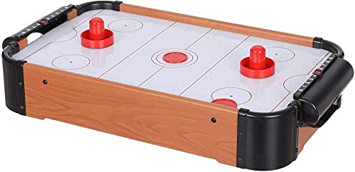 EVONTE Wooden Indoor Air Hockey Game Table, A Toy for Girls and Boys,Table- Top Game for Kids, Teens, and Adults- Battery-Operated Batteries (Big Size)
