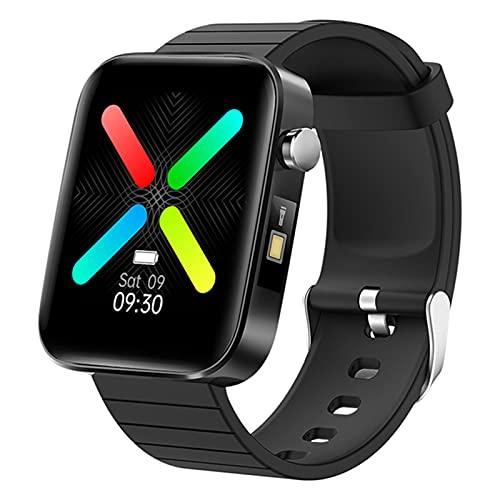 zyz T68 Smart Watch para Hombres Y Mujeres, Ritmo Cardíaco Y Monitor De Presión Arterial, Rastreador De Fitness, Pulsera Inteligente Impermeable,Negro