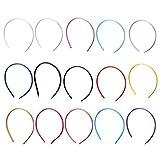 Festnight Cerchietti ricoperti di raso fai da te Bangs Hairpin Headband Fascia per sportiva unisex 1cm Larghezza 36cm Dimensione cerchio per ragazze Accessori per lo styling dei capelli
