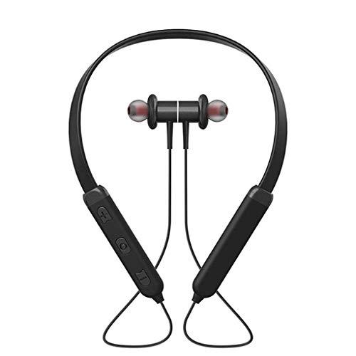YUTRD ZCJUX Auriculares inalámbricos Bluetooth Headset Auriculares Deportivos magnéticos for Running IPX5 Impermeable Auriculares estéreo fidelidad de Sonido y micrófono con cancelación de Ruido
