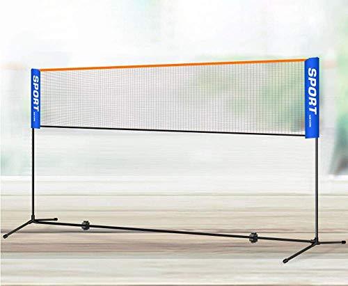 YXZQ Badmintonnetz, Tennisnetz, höhenverstellbar, Stabiler Eisenrahmen und Transporttasche, erhältlich in 4m oder 5m