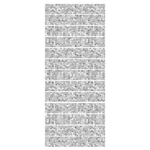 3D Trap Stickers Wit Grijs Mozaïek Zelfklevende Verwijderbare Trap Risers Stickers voor Home Decoratie 13 Stks