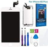 FLYLINKTECH Pantalla Táctil LCD Reemplazo para iPhone 6s Plus Blanco 5.5' Contiene Herramientas + película de Vidrio Templado - Blanco