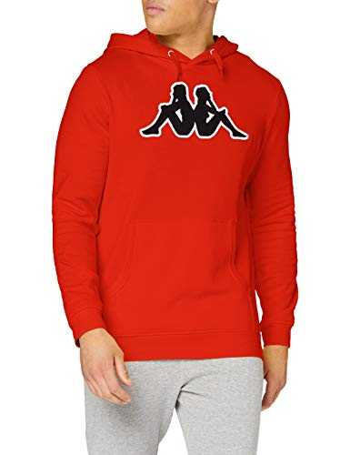 Kappa AIRITI Logo Sweatshirt Homme, Rouge, FR (Taille Fabricant : XL)