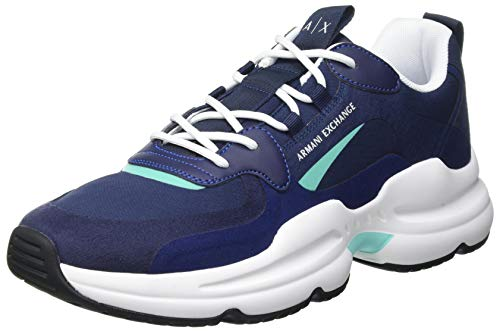Armani Exchange Herren Tokyo Chunky Sneaker, Multicolor Blue, 41 EU