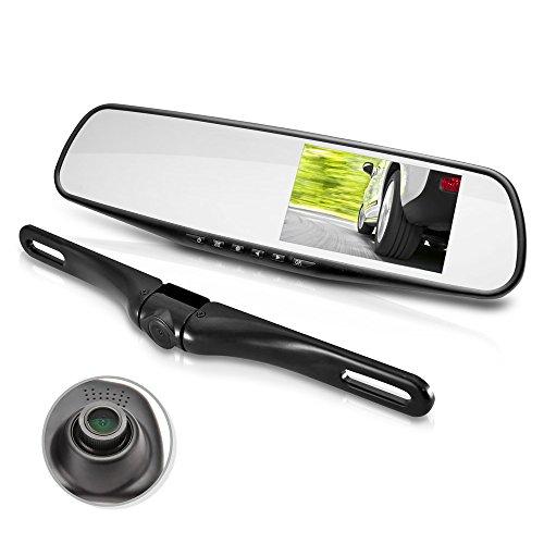 Dual Dash Cam Car Backup Camera | Car Recorder | Blackbox DVR | Rear Camera | Loop Security Camera | Waterproof Night Vision | Audio Recorder W Microphone | Micro SD Card | Full Color - HD 1080p- Pyle