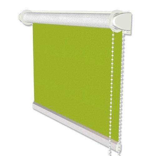 INTERDECO Verdunkelungsrollos/Thermo-Rollo Grün BxH 113,5 x 175 cm ohne Bohren (Klemmfix-Rollo), Seitenzugrollo mit Silberbeschichtung