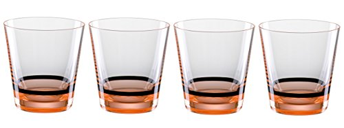 Bohemia Cristal b010241215 Manhattan Lot de 4 Verres 330 ML, Neon/Orange