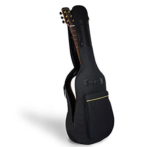 Mopalwin Gitarrentasche, Gig Bag Oxford Verdicken Padded Gitarre Tasche für 40/41 zoll Akustik gitarre und Klassikgitarren - Schwarz