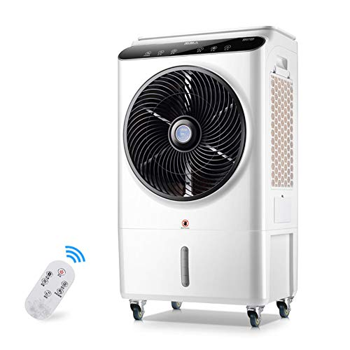 Aire Acondicionado Móvil, Enfriador de Aire Portátil con Cristal de Hielo y Control Remoto, Climatizador Evaporativo Silencioso de Bajo Consumo de Energía con Humidificación,105w