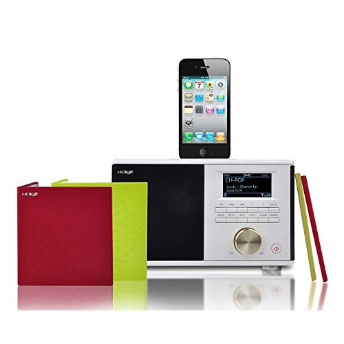 HDigit Dressy Compact Home HiFi System iPod (WiFi, DAB+, FM) mit Dockingstation für Apple iPod/iPhone