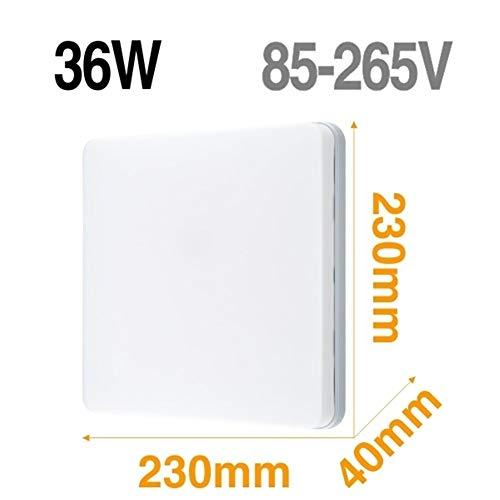 Lámpara de techo LED Panel de luz LED 48W 36W 24W 18W 13W 9W 6W abajo luz Montado en Superficie moderna lámpara de iluminación for el hogar Decoración (Body Color : Model C 36W)