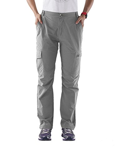 Nonwe Women's Outdoor Light Weight Breathable Quick Dry Tactical Cargo Pants Light Gray XS/30 Inseam