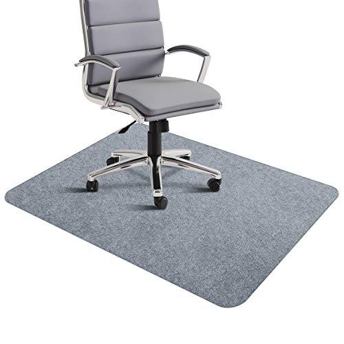SALLOUS Bürostuhlmatte, Schreibtischstuhlmatte für Hartholzböden, 0,4 cm dick, 88,9 x 139,7 cm, Hartboden-Schutzmatte, Mehrzweck-Niedrigflor, Stuhl-Teppich für Zuhause (hellgrau)