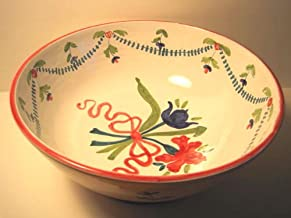 Footed Bowl, Ceramic, Hand-Painted, Italian Designed and Made, Mixing or All-Around-Use, (1983),