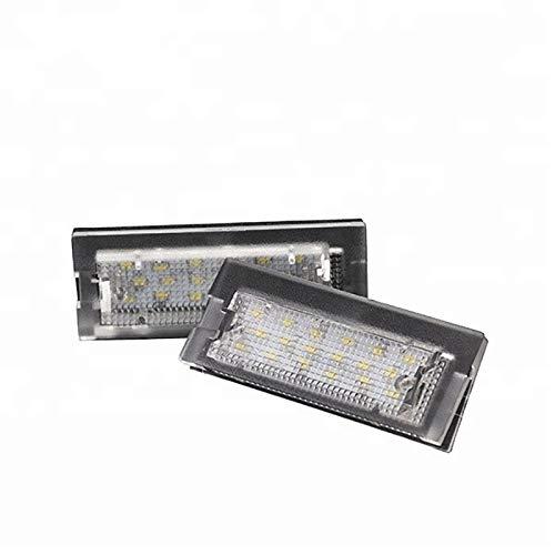 LOVELY Luces de matrícula de Coche Lámpara de la Placa de la Placa de la matrícula del número LED Compatible con BMW E39 Wagon 5D 1996-2002 Luces de Coche Universal