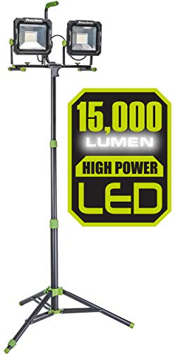PowerSmith PWL2150TS 15000 Lumen Weatherproof LED Dual Head Work Light