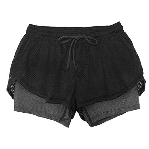TOPUNDER Women's Sports Shorts Anti Emptied Quick-Dry Short Pants Fitness Loose Trousers