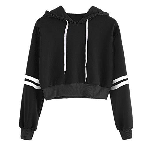 Jersey de rayas estilo corto estilo ocio moda