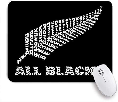 COFEIYISI Tappetino per Mouse,La Squadra di Rugby all Blacks della Nuova Zelanda,Superficie Liscia in Gomma Antiscivolo Mouse Pad con Design per i Giocatori e Ufficio Lavoro