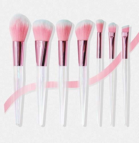 GAOHAILONG 7 Pinceaux De Maquillage Cristal Transparent Ensemble Outils De Beauté Poudre Libre Haute Brillance Réparation Fard À Joues Crayon À Sourcils Correcteur Brosse Acrylique
