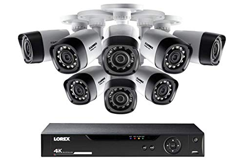 Lorex Outdoor 1080p Bullet Cameras, HD Weatherproof Wired Bullet Cameras w/Long Range Night Vision (8 Pack)- Includes 8 Channel 4K DVR w/ 1 TB Storage Hard Drive
