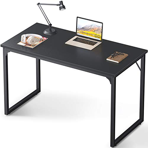 Coleshome Computer Desk 47', Modern Simple Style Desk for Home Office, Sturdy Writing Desk,Black